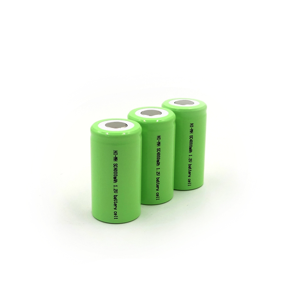 SL-SC4000mAh 1.2V Ni-MH high-rate battery cell,Maximum discharge current up to 30A,PVC colors are available: red, green, blue, pink, gray, black, white