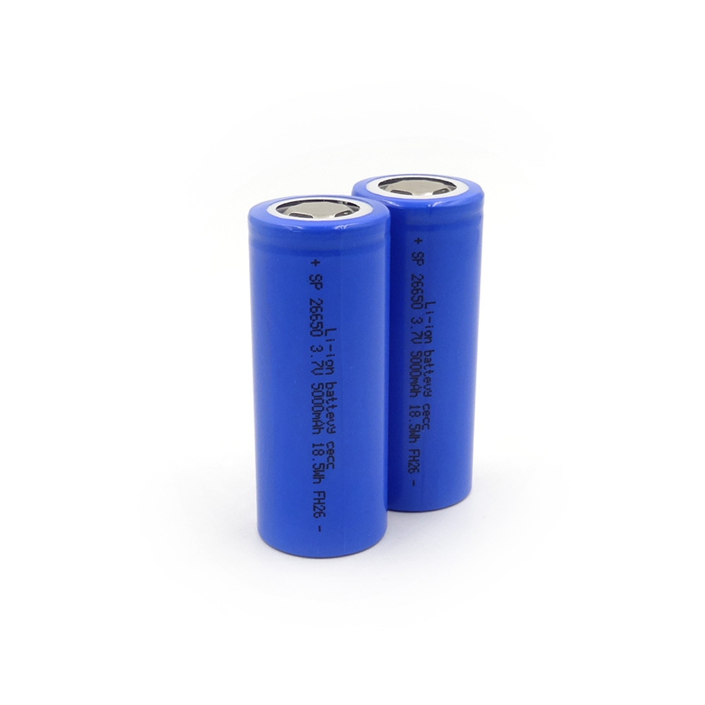 SL26650-3.7V5000mA Lithium ion power battery,PVC colors are available: red, green, blue, pink, gray, black, white