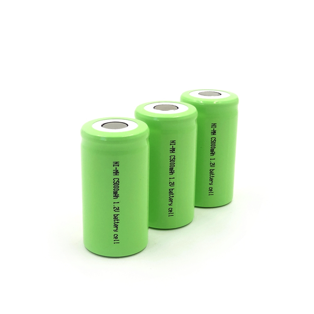 SL-C5000mAh 1.2V Ni-MH high-rate battery cell,Maximum discharge current up to 30A,PVC colors are available: red, green, blue, pink, gray, black, white